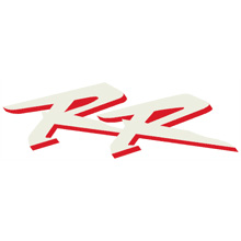 "954 Right Mid Fairing ""RR"" Decal (White/Red)"