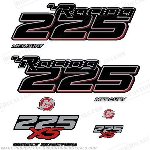 Mercury Racing Optimax 225XS DFI DECAL SET 8M0121263  225, 225-xs, 225 xs, xs, 016 2017 Mercury Racing 225 hp Optimax 225XS decal set replica (All domed decals and emblem as flat vinyl decals Non OEM)  Referenced Part number: 8M0121263  Made as decal Upgrade for 2006-2017 Outboard motor covers. RACE OUTBOARD HIGH PERFORMANCE 3.2L 300XS OPTIMAX 1.62:1 300 XS L SM PN: 881288T64 ,898103T93, 8M0121265.