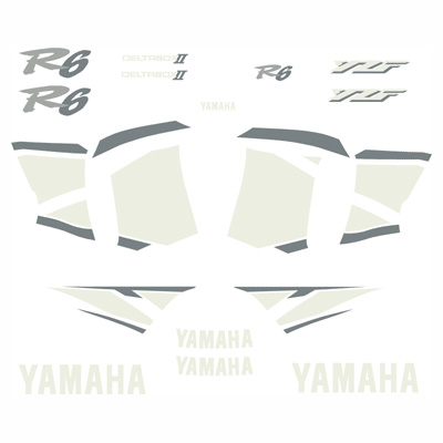 2001 Yamaha R6 Full Replica Decal Kit - Blue