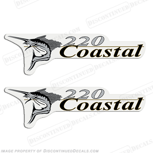 Wellcraft Coastal 220 Logo Boat Decals (Set of 2)
