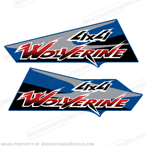 Yamaha Wolverine 350 4X4 ATV Decals BLUE