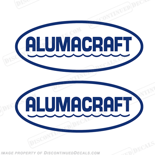 Alumacraft Boat Logo Decals - Style 1 (Set of 2) aluma craft