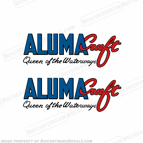 "Alumacraft ""Queen of the Waterways"" Boat Decals  (Set of 2) aluma craft"
