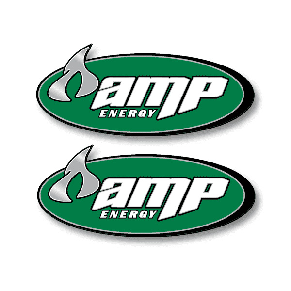 Amp Energy Decals - Set of 2
