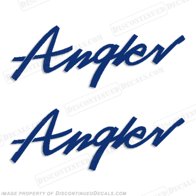 Angler (Lund) Boat Logo Decals - Any Color!