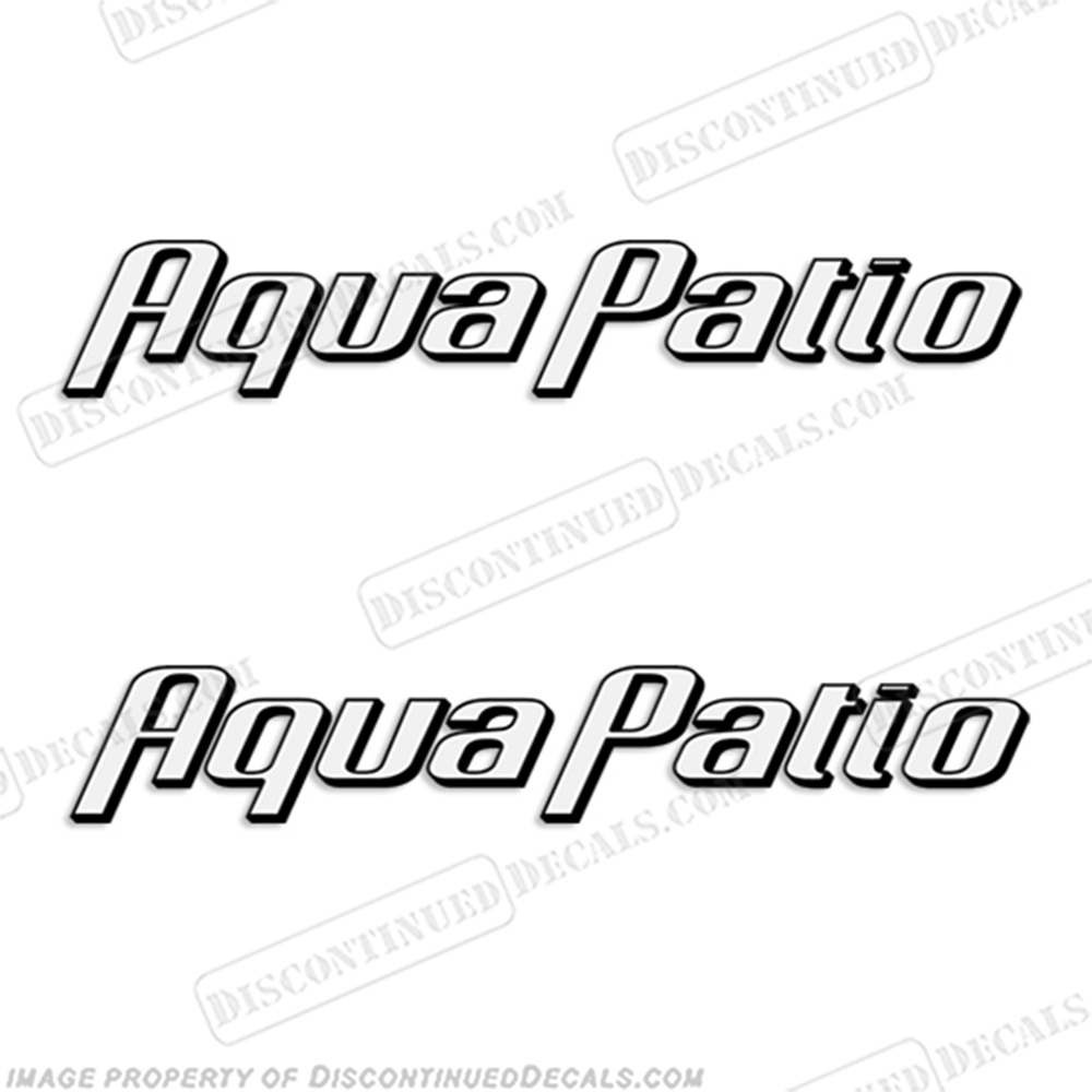 Aqua Patio Boat Decals (Set of 2) - 2 Color! aquapatio, aqua-patio