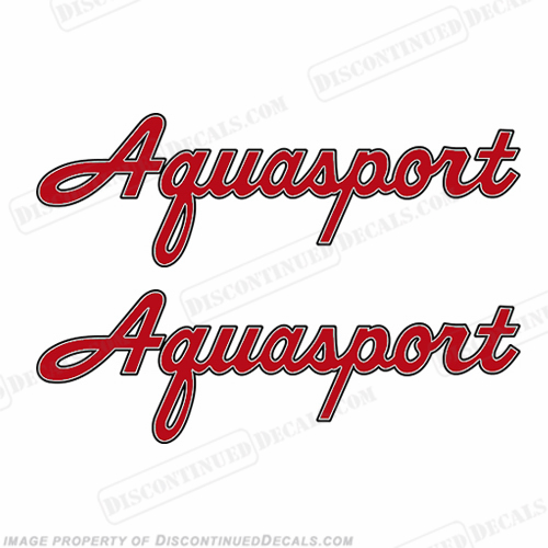 Classic Aquasport Boat Decals (Set of 2) - Any Color