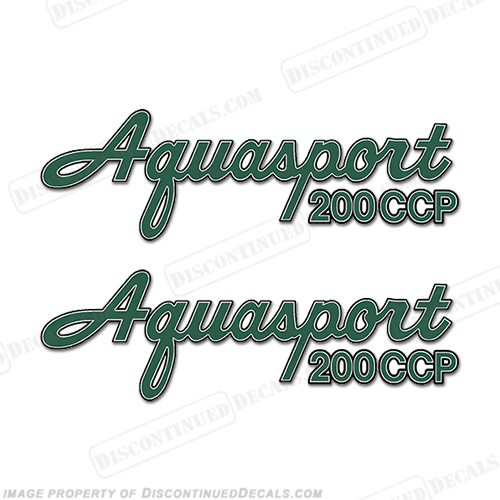 Aquasport 200 CCP Boat Decals (Set of 2) - Any Color