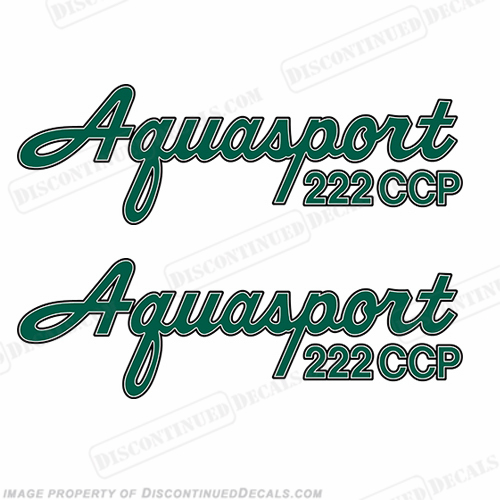Aquasport 222 CCP Boat Decals (Set of 2) - Any Color