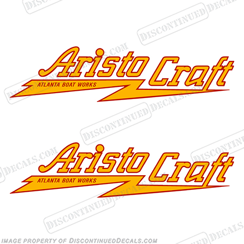 Aristo Craft Boat Decals (Set of 2)  boat, logo, lettering, label, decal, sticker, ki, set, aristocraft, aristo, craft, aristo craft, aristo-craft