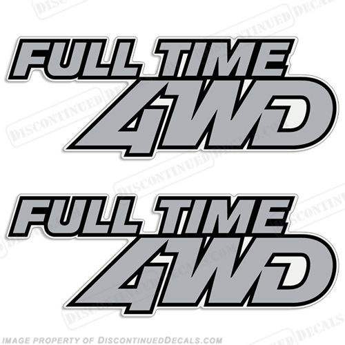 "Mazda 323 GTX ""Full Time 4WD"" Decals (Set of two) full-time-4wd, four, wheel, drive"