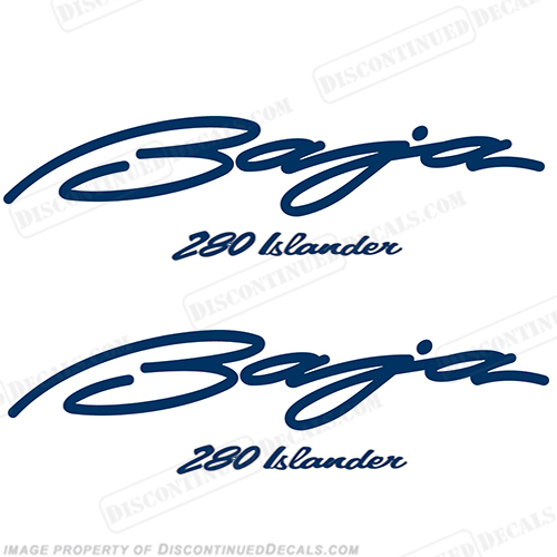 Baja 280 Islander Boat Decals (Set of 2)