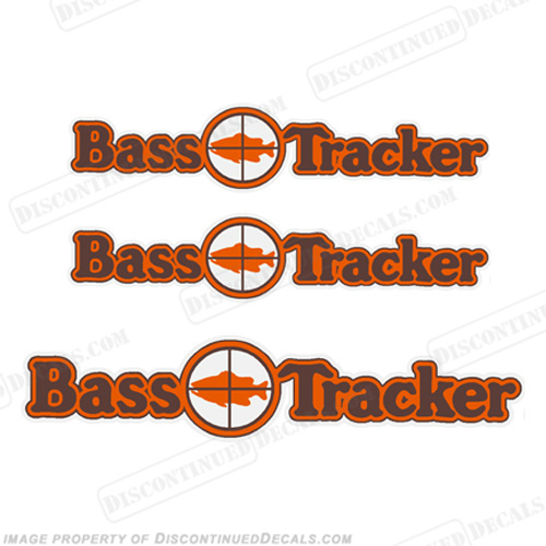 Bass Tracker Target Boat Decal Package - 1970s 70, 70s