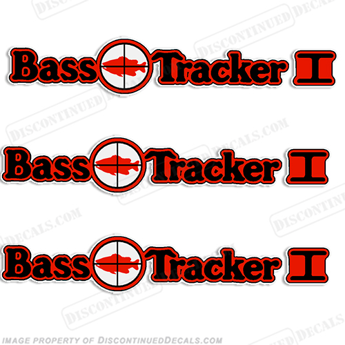 Bass Tracker I Target Boat Decal Package