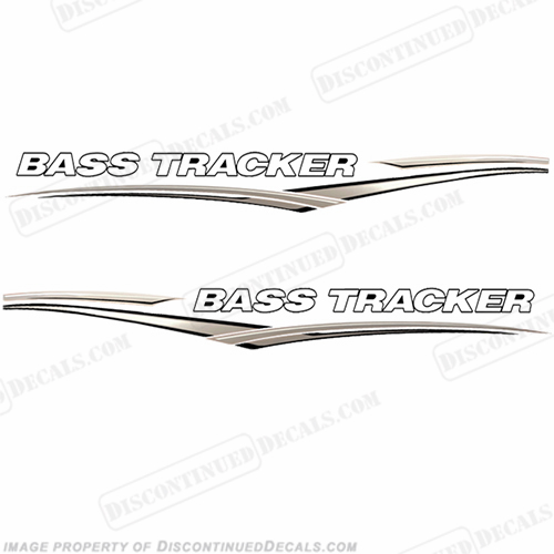 Bass Tracker Boat Graphic Decals - Tan