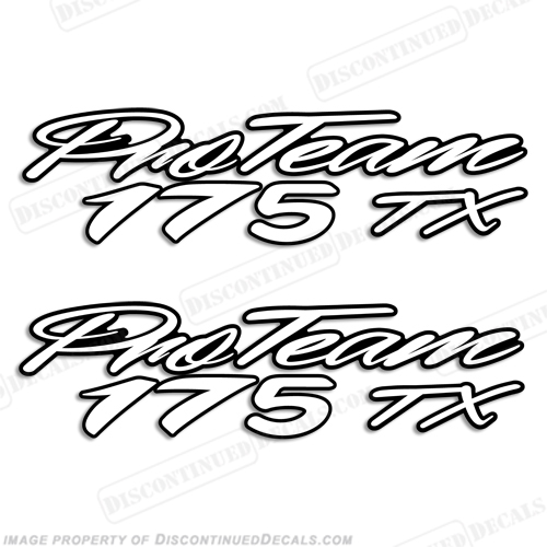 "Bass Tracker ""Pro Team 175 TX"" Decals"