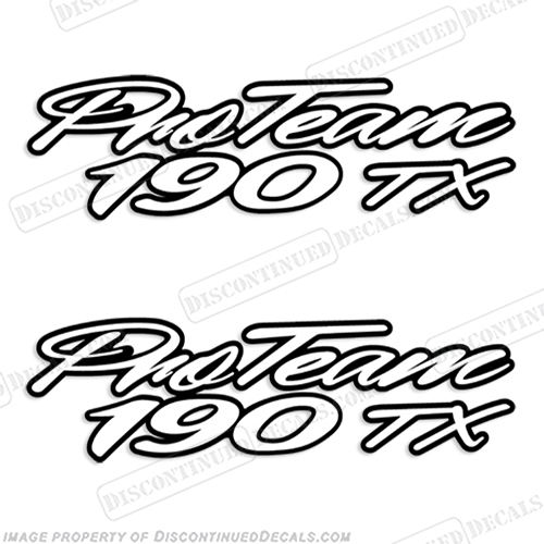 "Bass Tracker ""Pro Team 190 TX"" Decals"