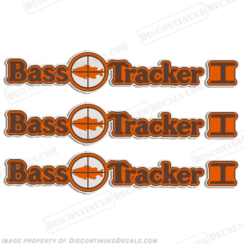 Bass Tracker I Target Boat Decal Package - 1970s  70, 70s