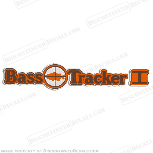 Bass Tracker I Target Boat Decal - 1970s 70, 70s