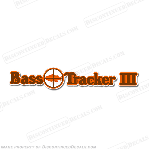 Bass Tracker III Target Boat Decal - 1970s 70, 70s, 3
