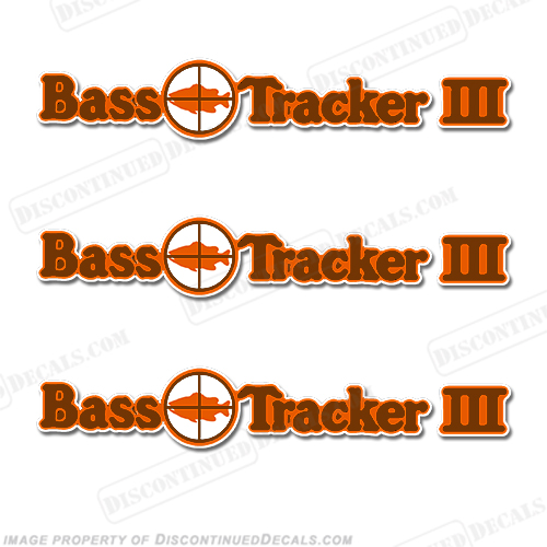 Bass Tracker III Target Boat Decal Package - 1970s 70, 70s