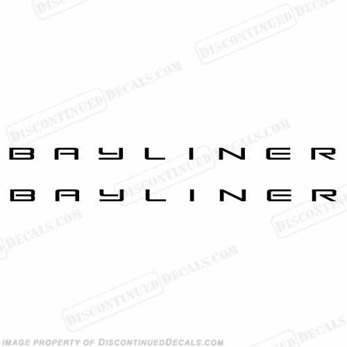 Bayliner Boats Logo Decals - Any Color! (Set of 2) - Pick Size!