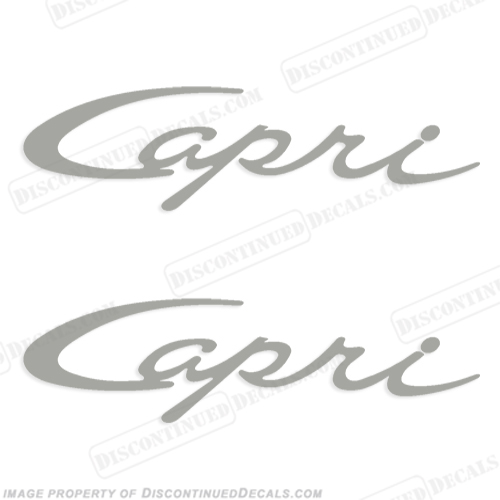 Bayliner 'Capri' Boat Decals - Script (1 color)