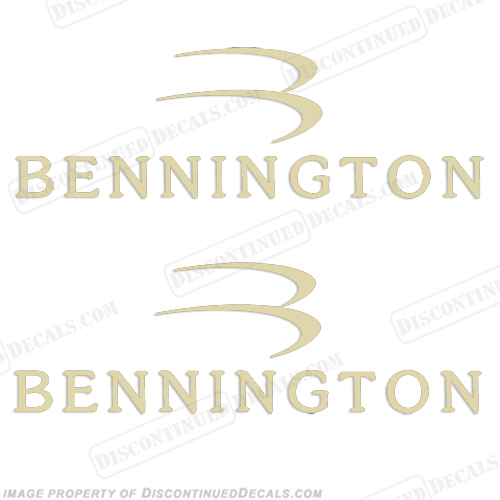 Bennington Boat Logo Decals (Set of 2) - Fawn