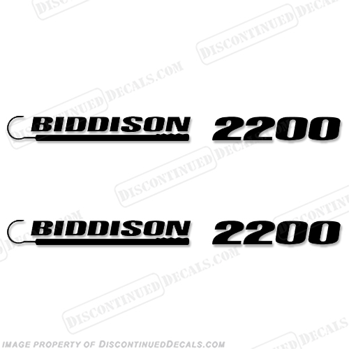Biddison 2200 Boat Logo Decal - Any Color!