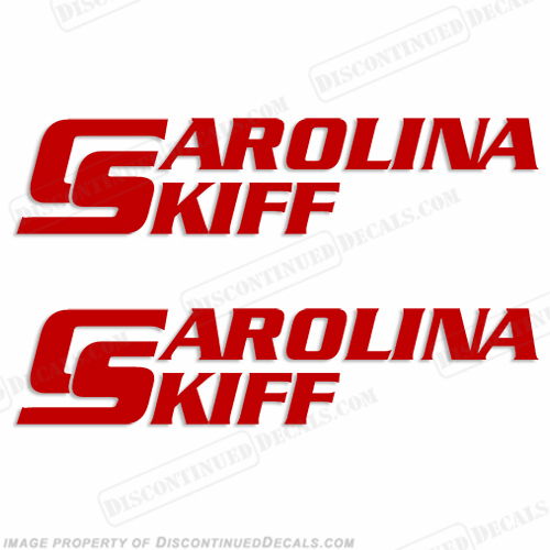 Carolina Skiff Boat Decal (Set of 2) - Any Color!