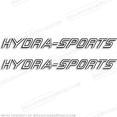HydraSports Boat Logo Decal - Any Color! (Set of 2)