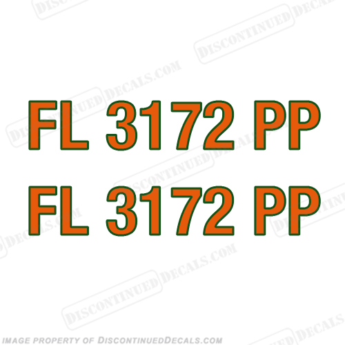 Boat Registration Number Decals - You Choose, 2 Color!