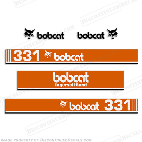Bobcat 331 Mini Excavator Decals
