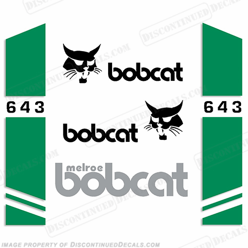 Bobcat 643 Skid Steer Decal Kit