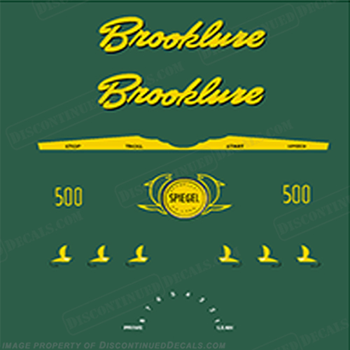 Brooklure 5 HP Decals 5hp, 5-hp, brook lure