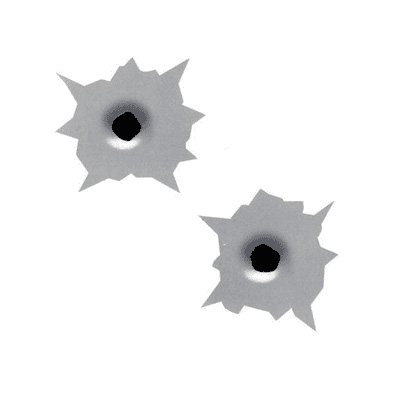 Bullet Hole Decals (set of 2)