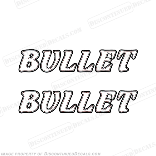 Bullet Boat Logo Decals (Set of 2)