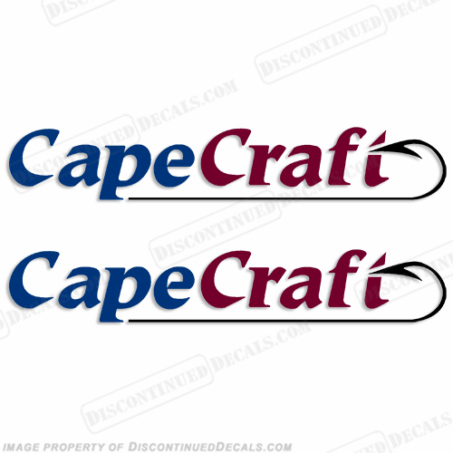 Cape Craft Boat Decals (Set of 2)