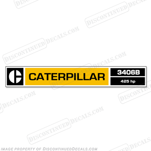 Caterpillar 3406B Diesel Engine Decal
