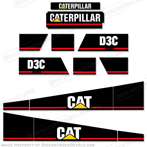 Caterpillar D3C Series III Equipment Decals