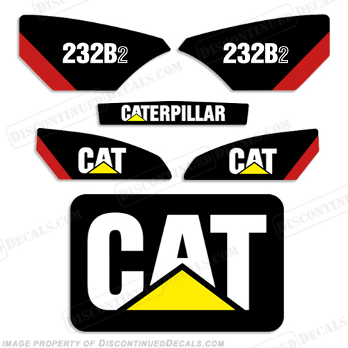 Caterpillar 232B-2 Skid Steer Decal Kit