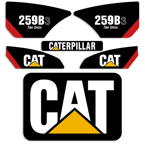 Caterpillar 259B-3 Decal Kit