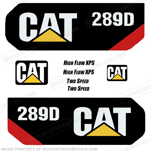 Caterpillar 289D 2014+ Decal Kit 289-d, 289 d