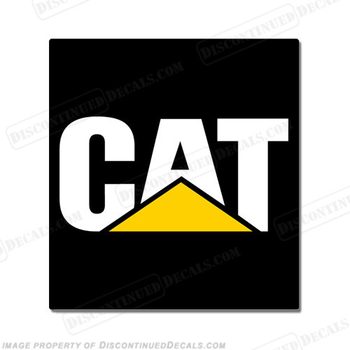 Caterpillar Logo Decal 11x14