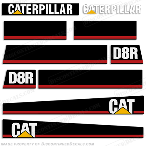 Caterpillar Loader D8R Decal Kit