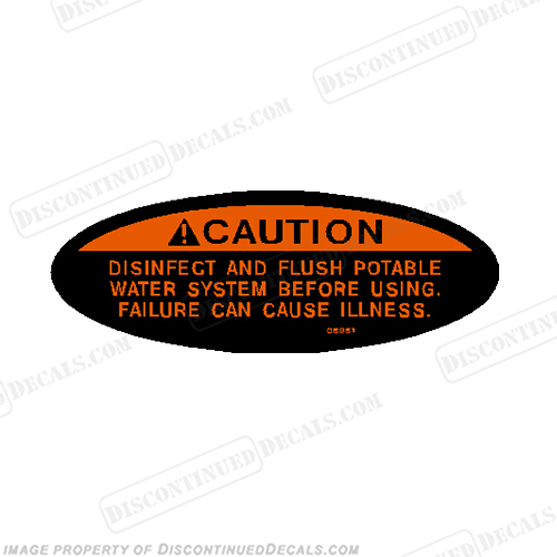 Caution Decal - Potable Water