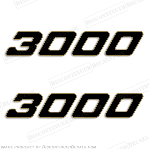 Century Boats 3000 Logo Decals (Set of 2)