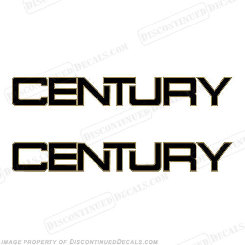 Century Boats Logo Decals - 2 Color!