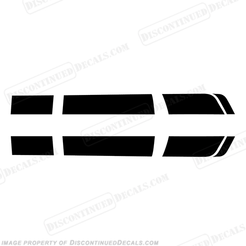 Chevy Camaro Racing Stripe Decals - Any Color!