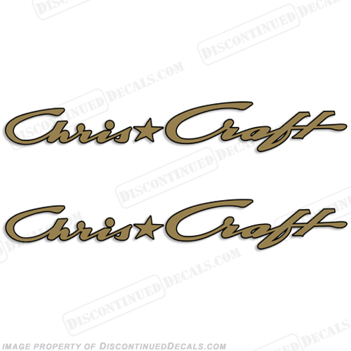 Chris Craft Boats Logo Decals - 2 Color!